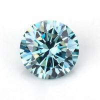 Loose Moissanite Gemstone Blue Color 5mm-8.5mm Round Cut VVS1 Clarity Gemstone
