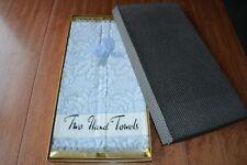 Vintage Retro Celebration Hand Sky Blue Towels Sealed in Original Polka Dot Box