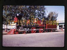 1969 CPR Central Pacific 4-4-0 Locomotive 'Jupiter' - Vtg 35mm Railroad Slide