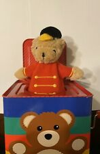 FAO Schwarz Jack In The Box 2011 Musical Tin Box Pop-Up Toy Soldier Bear -NICE!