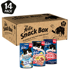 More details for felix snack box 14 pack with 8 goody bags 3 crispies and 3 play tubes purina