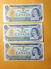 1973 UNCIRCULATED BANK OF CANADA ONE DOLLAR BANKNOTES #1