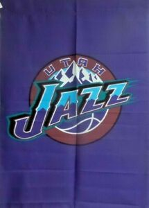 "Wholesale Lot: -6 NBA Utah Jazz Flags 29"" x41"" Large Flags, $5 Each"