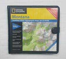 National Geographic Topo Montana Seamless USGS Cd-rom SCUFFS