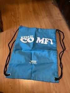 Vans Event Launch Drawstring Sports Blue Bag Exclusive Rare  New Without Tags