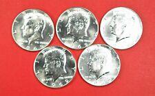 Kennedy 40% Silver Half Dollars US Coin Lot Of 5 Coins Nice 1969 AU-BU