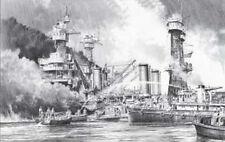 Battleship Row - The Aftermath by Robert Taylor Pearl Harbor pencil drawing