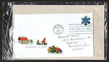 4107 -- Christmas 2006 Snowflake -- First Day cover with Gentry decoupage cachet