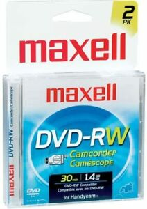 """3"""" Rewritable DVD-RW for DVD Camcorders"""