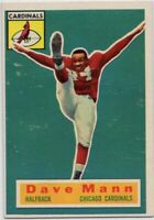 1956 Topps #34 SP Rookie Dave Mann Near Mint Chicago Cardinals FREE SHIPPING