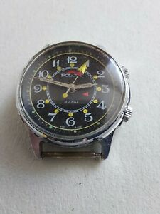 POLJOT Vintage RARE Russian ALARM Signal Mechanical Men's WRIST WATCH USSR 18j.