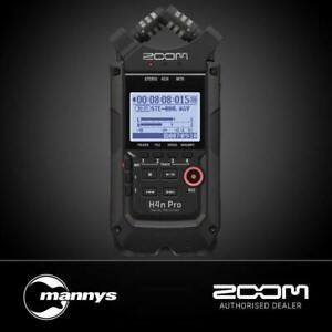Zoom H4n Pro Handy Recorder (All Black Edition)
