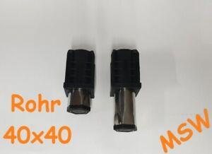 2x Gerätefuß  Rohrtyp 40x40 1,0-1,2mm Höhe 23-60mm