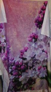 Lilac Print Shower Curtain Floral Flowers Lavender Purple