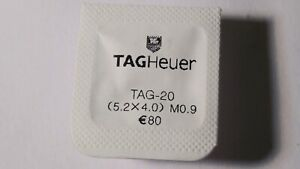 Tag Heuer CROWN and TUBE screwdown YELLOW New/Sealed Tag-20. (5.2mmx4.0mm) tap t