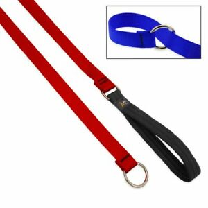 """Lupine Dog Slip Lead 3/4"""" RED 6 Ft Nylon Padded Handle New Made in USA"""