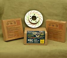 EBC GD400 L&R 3GD Slotted and Dimpled Sport Rotors For either Front or Rear/Gold