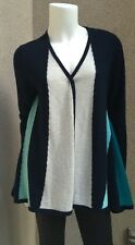 NWT Charter Club Luxury Woman Cardigan SZM 100% Cashmere Retail 179$ Navy Blue