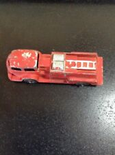 RED METAL TOY FIRE TRUCK HUBLEY USA -402 FREE SHIPPING