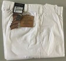 NEW Bills Khakis M2-TPWH TROPICAL POPLIN plain Front WHITE sz 34 MSRP $165