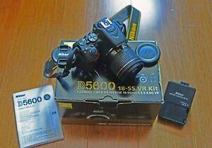 Nikon D5600 24.2 MP Digital SLR Camera - Black (Kit with 18-55mm VR Lens)