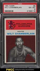 1961 Fleer Basketball Wilt Chamberlain ROOKIE RC #8 PSA 6 EXMT