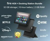 Amazon Fire HD 8 + Docking Station Bundle, 32gb Tablet, E-reader, Alexa, Kindle