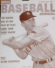 "Mickey Mantle Poster Print - 1953 Dell Baseball Annual Magazine - 11""x14"" Sepia"