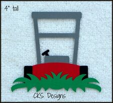 Die Cut Lawn Mower Yard Grass Scrapbook Page Embellishment Paper Piecing CKS