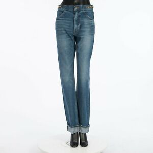 CELINE 990$ Dylan Straight-Cut Jeans In Tangerine Sky Denim