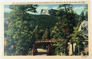 Vintage Black Hills South Dakota SD Mt. Rushmore Spiral Bridge Iron Mountain Rd
