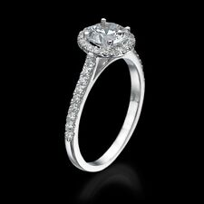 BLACK FRIDAY 1 CT DIAMOND ENGAGEMENT RING ROUND CUT D/VS 14K WHITE GOLD ENHANCED