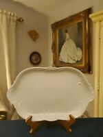 SANSSOUCI WHITE OVAL SERVING PLATTER ROSENTHAL CONTINENTAL SCALLOPED EMBOSSED