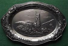 c1900 Art Nouveau Silvered Pewter Alloy Colorado Springs Card / Pin Tray