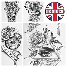 Arm Leg Tattoo Temporary Sticker Arm Sleeve Fake Tatoo Body Art Waterproof UK