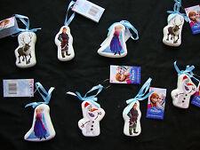 Set of 8 Disney Frozen Christmas Tree Baubles Decorations Decoupage Tree Hangers