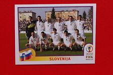PANINI WORLD CUP KOREA 2002 02 N. 115 SLOVENIA TEAM WITH BLUE BACK MINT!!!