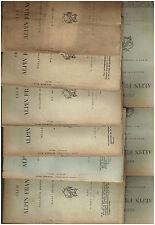Club Alpin Francais - Lot  9 numéros - Toute l' Année 1902 -