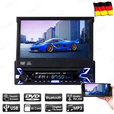 "Single DIN Autoradio DVD CD mit Bluetooth 7"" Touchscreen USB / AUX SD Freisprech"