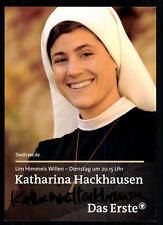 Katharina Hackhausen Um Himmels Willen Autogrammkarte Original ## BC 31341