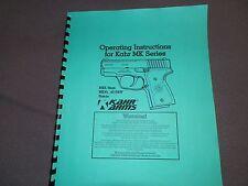 Kahr, Mk Series, Mk9, Mk40, Instruction Manual, 20 Pages