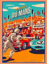 "034 Car Race - Le Mans 24 Hours Race USA Modified Cars 24""x32"" Poster"