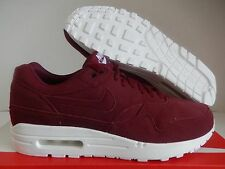 NIKE AIR MAX 1 ID BURGUNDY SUEDE SZ 10 WOMENS/MENS SZ 8.5 [943757-992]