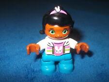 Lego Duplo Ville Kind Mädchen schwarze Haare Modern 10840 NEU Figur Hase Shirt