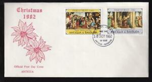 Antigua & Barbuda 1982 FDC Christmas Raphael Paintings, unaddressed, sc#685-686