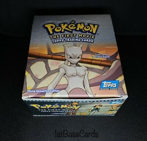 OPENED! NO CARDS! 1999 Mewtwo Strikes Back BOOSTER BOX Pokemon FIRST MOVIE