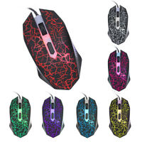 K1901 Gaming Mouse Gamer 1600DPI 4 Buttons 7 Colors USB Wired Silent Mice for PC
