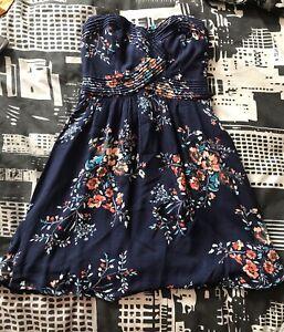 Kimchi Blue Floral Strapless Dress ASO Elena Gilbert The Vampire Diaries