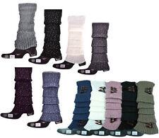 Stulpen Beinstulpen Glitzer oder mit Knöpfen Einheitsgröße 6 Farben Neu