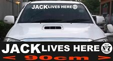 Jack Lives Here Jack Daniels No7 ute truck bns window Car 4x4 Sticker BIG 900mm